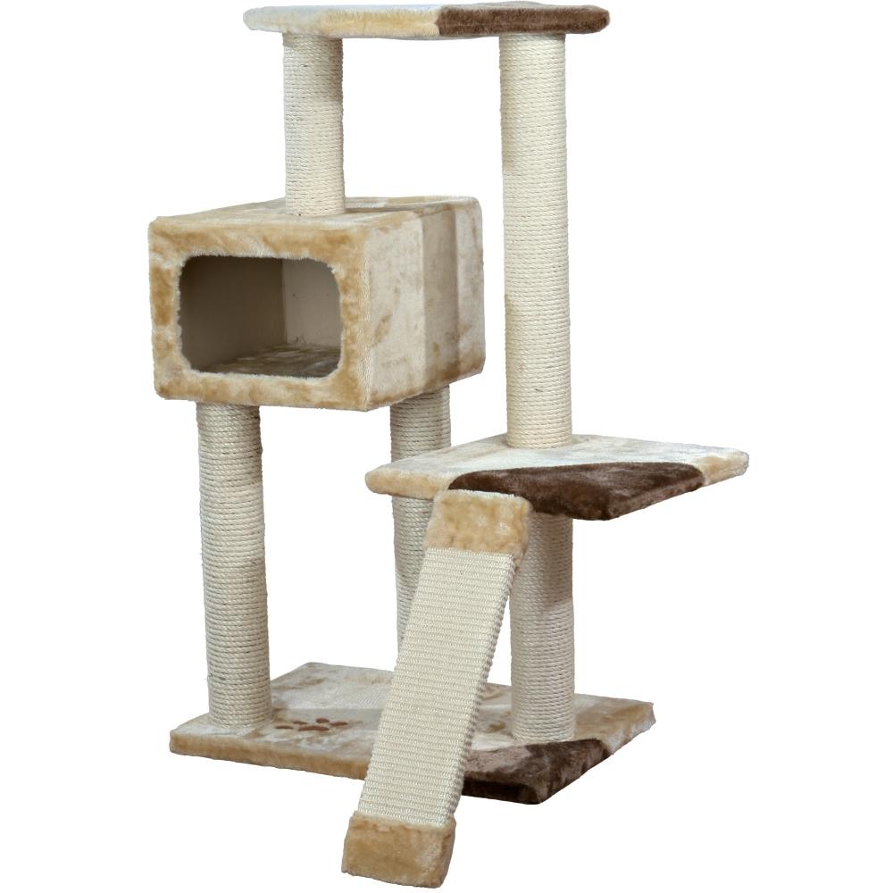 kratzbaum almeria h he 106 cm beige braun. Black Bedroom Furniture Sets. Home Design Ideas