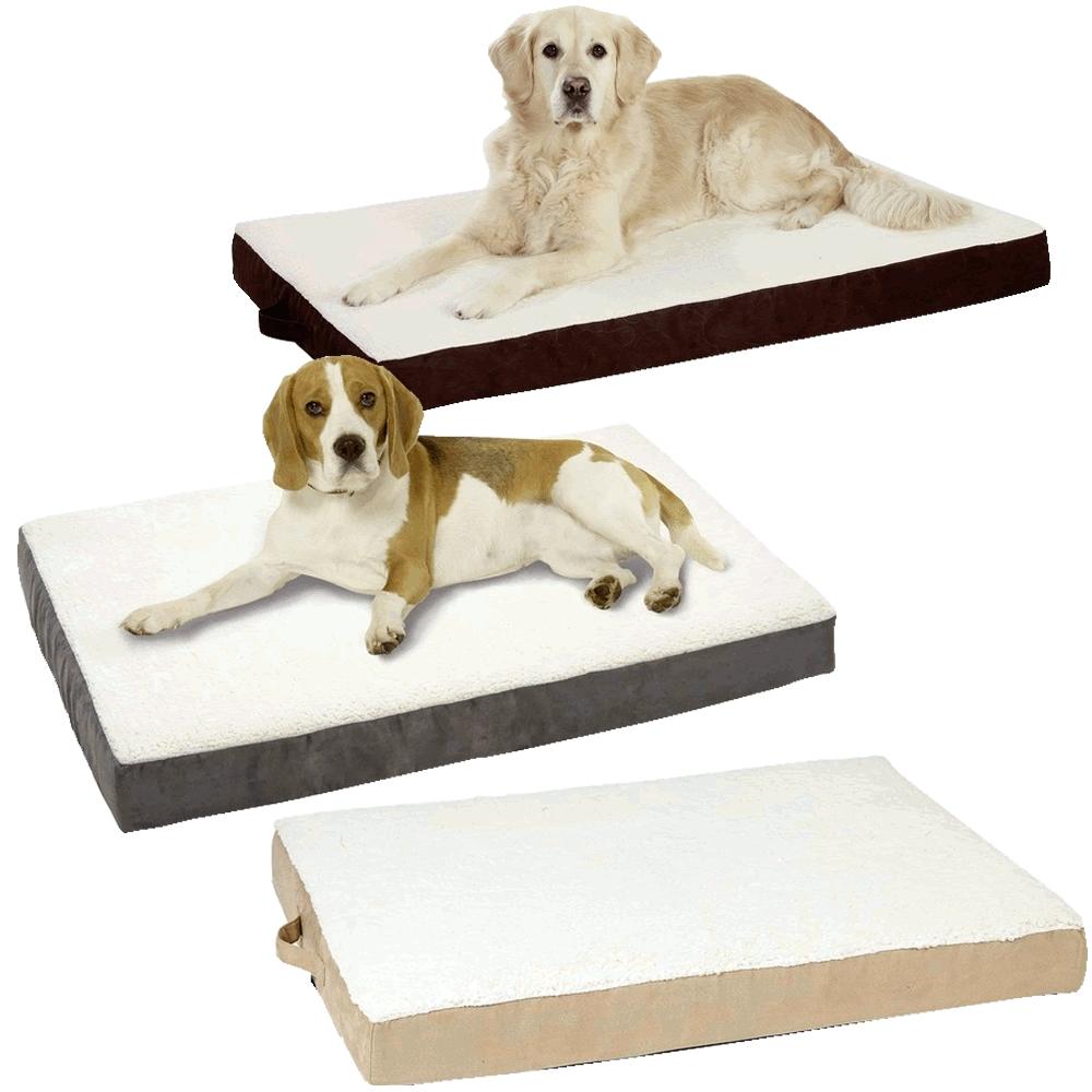 orthop disches hundebett ortho bed eckig 100 x 65 x 12 cm. Black Bedroom Furniture Sets. Home Design Ideas