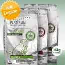 Platinum Natural Food Adult TRIO, Chicken - Lamb + Rice -...