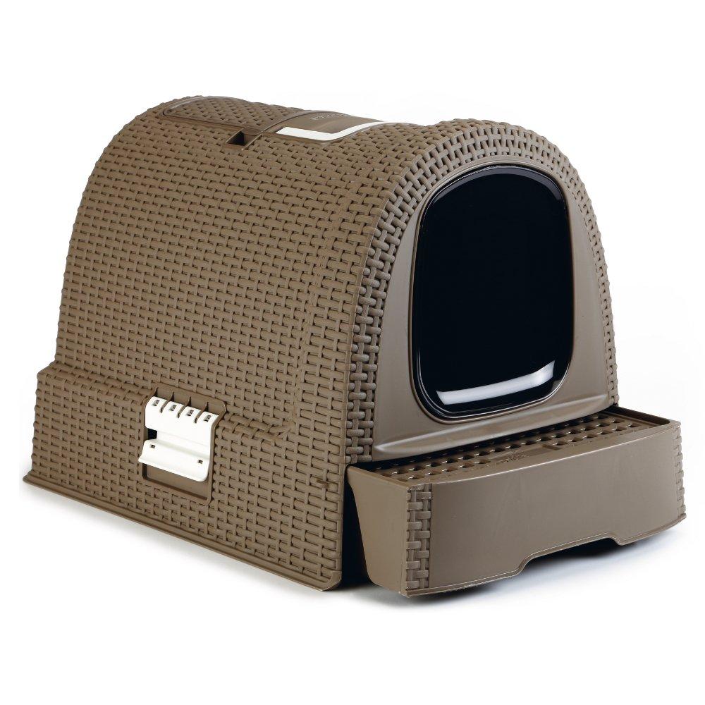 katzentoilette in rattanoptik braun mocca. Black Bedroom Furniture Sets. Home Design Ideas