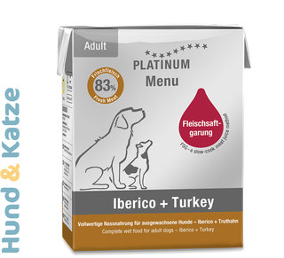 Platinum Nassfutter MENU Iberisches Schwein + Truthahn/Iberico + Turkey